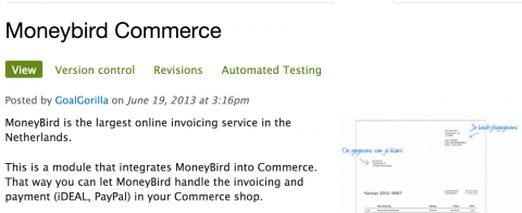 Drupal Commerce Moneybird