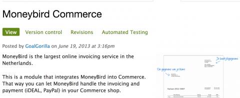 Drupal Commerce Moneybird